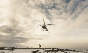 Helikopter i luften