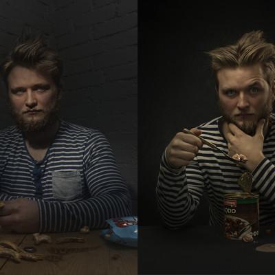portrett i studio